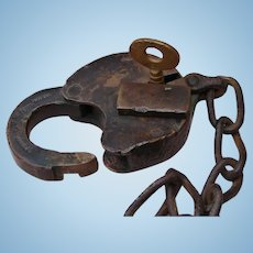 Antique 1800s Lehigh Valley Railroad Brass Switch Lock Set by Nock