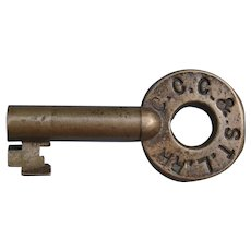 "Early CCC&STLRR ""Big Four"" Railroad Brass Switch Key"