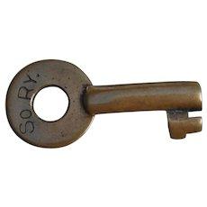 Older Southern Railway Railroad Brass Switch Key