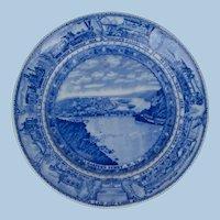 Earliest 1927 Baltimore & Ohio Railroad China Dinner Plate Lamberton Scammell
