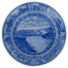Earliest 1927 Baltimore & Ohio Railroad China Dinner Plate Lamberton Scammell