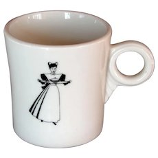 Vintage Harvey Girl Waitress Railroad Mug Cup from Fred Harvey