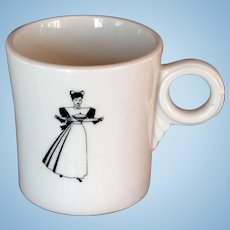 Vintage Harvey Girl Waitress Railroad Mug Cup from Fred Harvey
