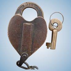 Early Fonda Johnstown & Gloversville Railroad Brass Lock and Key Set