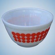 Vintage 1960s Pyrex Dots Smallest 401 Nesting Mixing Bowl in Orange Polka Dots