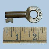Antique U. S. Express Company Railroad Brass Key