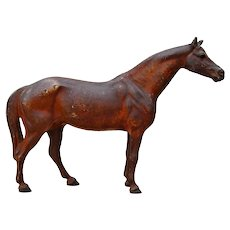 Early Hubley Horse Full Figure Cast Iron Door Stop
