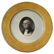 "Impressive Chesapeake & Ohio Railroad China Gold Rimmed  ""George Washington"" Service Plate"