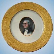 "Impressive Chesapeake & Ohio Railroad China Gold Rimmed  ""George Washington"" Service Plate"