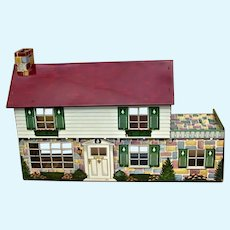 Superb 1948 Marx Suburban Colonial Doll House  No. 4052 in Original Box
