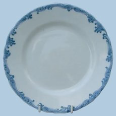Antique Southern Pacific Railroad China Harriman Blue Plate by Maddock