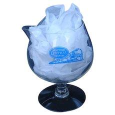 Authentic New York Central Railroad Glass Martini Mixer Pitcher