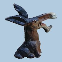 Vintage Hubley Mule Caricature Cast Iron Figural Bottle Opener or Paperweight