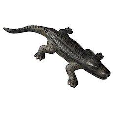 Monon Route Railroad Cast iron Alligator Match Safe CI&L Railway