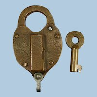 Ann Arbor Railroad Brass Working Switch Lock & Key