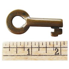 Early New York Central Railroad Brass Switch Key NYCRR
