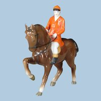 Vintage Dressage Horse and Rider China Figurine by Erphila (Germany)