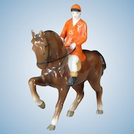 Vintage Erphila Horse and Rider China Figurine