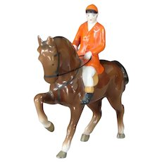 Vintage Horse and Rider China Figurine by Erphila (Germany)