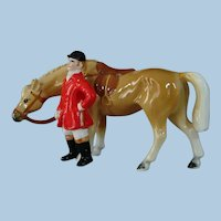 Vintage Horse and Rider China Nippon Figurine by Yoko Boeki Japan
