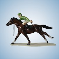 Vintage Hagen-Renaker China Race Horse With Jockey Figurine