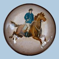 Superb Military Horse and Rider Bridle Rosette Brooch Pin