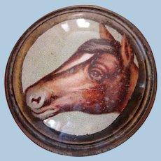 Vintage Die-Cut Horse Head Bridle Rosette Brooch Pin