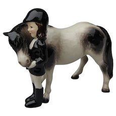 "Vintage ""Big Sister With Pony"" Hagen-Renaker China Horse Figurine"