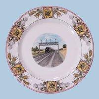 "Vintage Superb Illinois Central Railroad ""Panama Limited"" China Service Plate"