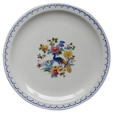 Scarce Milwaukee Road Railroad China Peacock Pattern Large Service Plate
