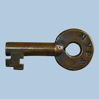 Vintage New York Central Railroad Brass Switch Key