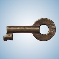 Early 1900s Wabash Railroad Brass Switch Key WRR