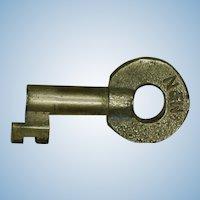 Vintage Norfolk & Western Railway Wabash Cut Railroad Brass Switch Key