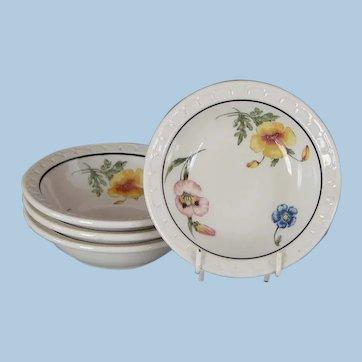 Pretty Prairie Mountain Wildflowers Sauce Dish Small Bowl Southern Pacific Railroad China