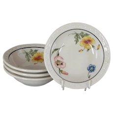 "Vintage Southern Pacific Railroad China ""Prairie Mountain Wildflowers"" Sauce Dish Monkey Bowl"
