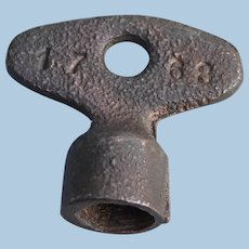 Scarce Railroad Brass Wrench Key for Hexagon 6-Sided Signal Boxes