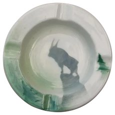 Great Northern Railroad Glory of the West RRBS Goat Ash Tray