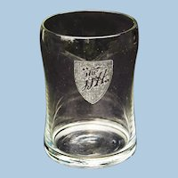 Very Early Delaware & Hudson Railroad Drinking Glass
