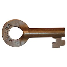 Pre-1926 New York Central Railroad Brass Switch Key by Bohannan