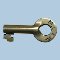 Early Maine Central Railroad Brass Switch Key MCRR