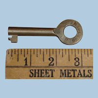 Unusual New York & Long Branch Railroad Brass Key Likely for Coach or Caboose