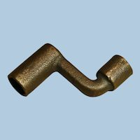 Double Ended Railroad Brass Signal Box Key Wrench for Triangle and Hex Shapes