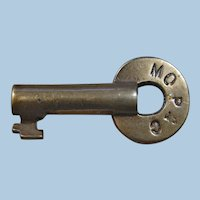 Vintage Missouri Pacific Railroad Brass Switch Key MOPAC