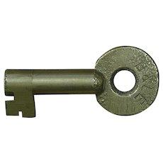Vintage Bessemer & Lake Erie Railroad Brass Switch Key