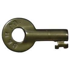 Circa 1900 Delaware & Hudson Company Railroad Brass Switch Key D&HRR