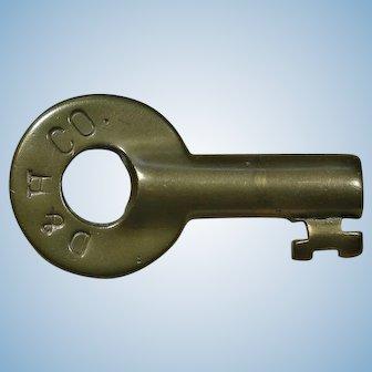 Circa 1900 Delaware & Hudson Company Railroad Brass Switch Key D&HRR