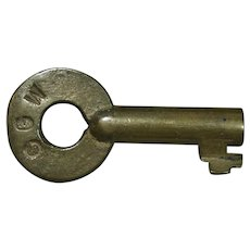 Vintage Chicago Great Western Railway Railroad Brass Key by Fraim CGW