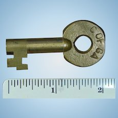 Vintage Central of Georgia Railway C OF GA Railroad Brass Key