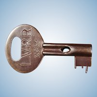 Vintage Lehigh Valley Railroad Steel Key by Corbin LVRR