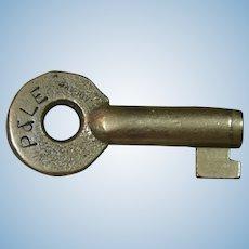 Vintage P&LERR Pittsburgh & Lake Erie Railroad Brass Switch Key